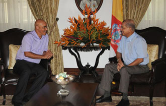 President Michel and Leader of the Opposition in the National Assembly meet to discuss National Issues