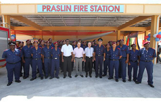 President Michel opens Praslin Fire Station- A 30 million Seychelles Rupee investment by the Seychelles Government