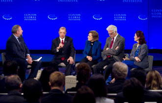 President James Michel at the forefront of debate promoting the sustainability of Oceans on Clinton Global Initiative Panel