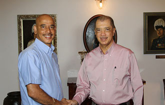 President Michel meets with the Leader of the Opposition