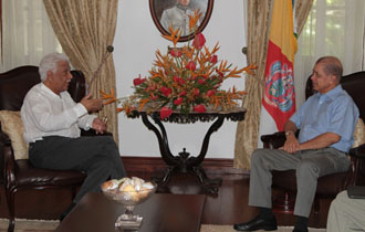 President Michel meets with the Secretary-General of the Indian Ocean Commission