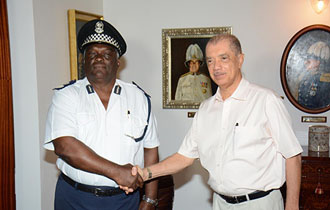 President Michel commends Police Commissioner Quatre as he bids farewell