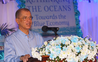 Seychelles President's latest book 'Rethinking The Oceans - Towards the Blue Economy' launched on World Oceans Day