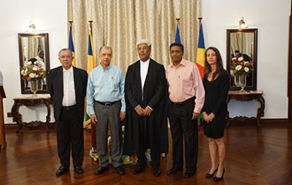 Justice Melchior Vidot sworn in as Judge of the Supreme Court of Seychelles