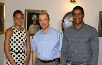 President meets with Seychelles Sportsman and Sportswoman of the Year