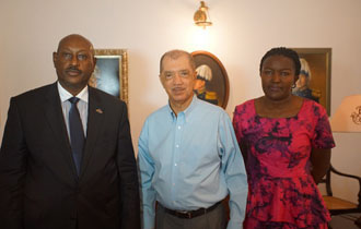 President Michel meets with Ugandan Special Envoy