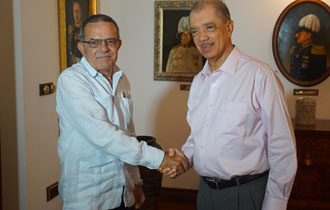 Cuban Ambassador bids farewell to President James Michel at State House