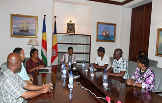 President Danny Faure Meets with Chairpersons of Arts Associations at State House