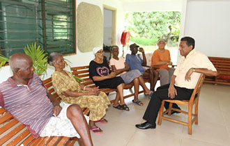 President Pays Surprise Visit to Anse Royale Home for the Elderly