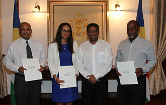 President Faure Presents New Ambassadors with Instrument of Appointment