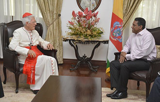 Courtesy Call by His Eminence, Cardinal Maurice Piat
