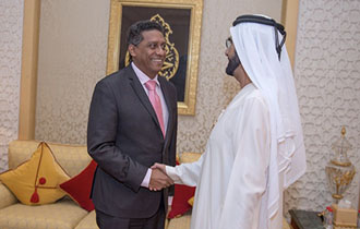 President Faure on first working visit in Dubai