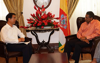Courtesy call by IMF mission's new head to Seychelles