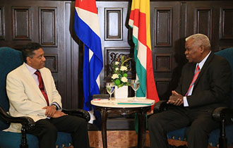 President Faure holds talks with President of National Assembly of Cuba