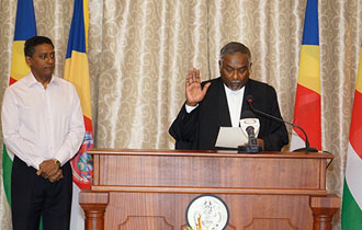 Judge Renaud Sworn In as Justice of the Court of Appeal