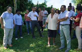 President Danny Faure Visits Baie Lazare District