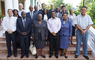 President Danny Faure Receives Judges of the COMESA Court of Justice