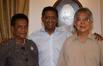 President Faure Thanks Retired Ambassadors for their Service to Seychelles