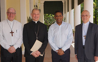 President Faure Receives Representative of the Roman Catholic Church