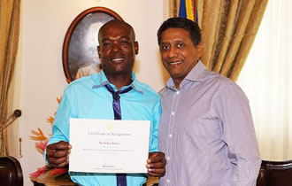 President Commends Nicholas Barra for Brave Act of Citizenship