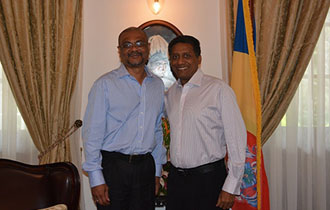 President Danny Faure welcomes first Seychellois Country Director for UN AIDS
