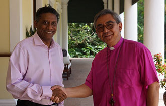 President Faure Receives New Archbishop of the Indian Ocean Province