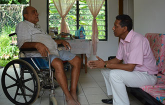President Danny Faure visits Homes for the Elderly