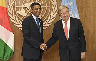 Secretary-General thanks Seychelles for upholding UN values