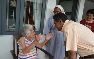 President Faure pays surprise visit to three elderly homes
