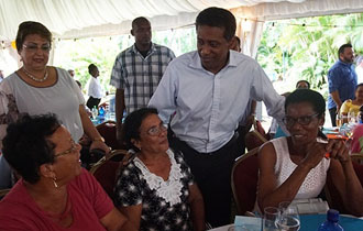 President Faure hosts reception to commemorate International Day for Older Persons