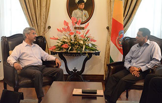 President Faure receives Foreign Secretary for India