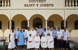 President pays visit to Sisters at St Joseph de Cluny Convent