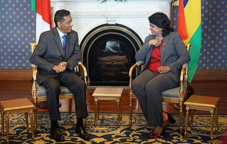 Courtesy Call on the President of the Republic of Mauritius