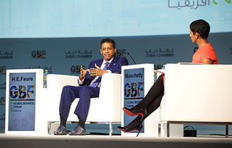 President Faure participates in the second day of Africa Global Business Forum 2017