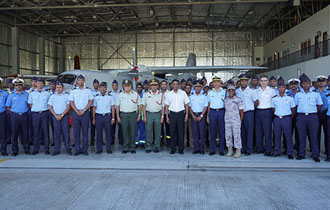 President Faure visits Seychelles Air Force and Central Bank