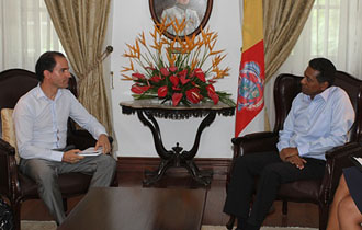 President Faure receives UNODC Regional Representative for Eastern Africa to Seychelles