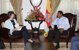 President Faure receives the World Bank Vice President for Sustainable Development