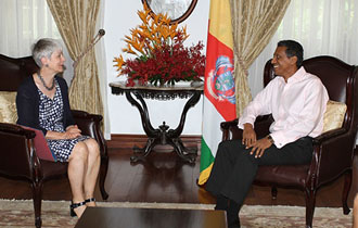 Courtesy call by the Ambassador of the Federal Republic of Germany to Seychelles