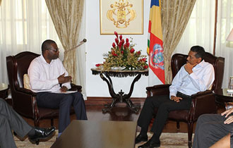 President Faure receives IMF Advisor and Mission Chief for Seychelles