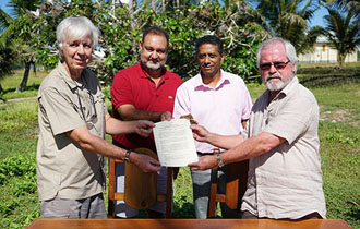 President Faure witnesses signing of agreement on Marie Louise Island