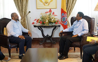 President meets New Chairperson and SG of the SCCI