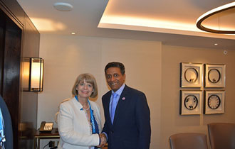 President Faure meets with Minister of State for Africa and MP Mrs Harriett Baldwin