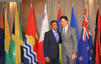 President Faure attends meeting hosted by the Prime Minister of Canada for Commonwealth Small Island and Coastal States