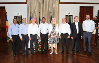 President Faure witnesses Signing Agreement for the Rehabilitation and Extension of Port Victoria