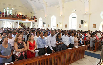 President Faure attends Labour Day Mass