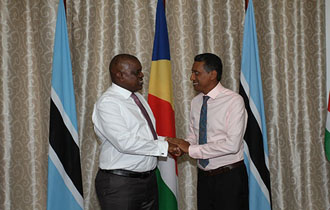President Faure welcomes President of the Republic of Botswana