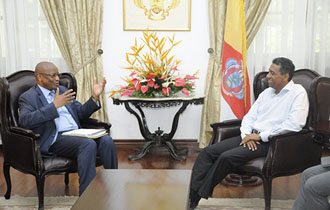 President Faure receives World Bank Executive Director