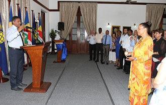 President Faure Hosts reception in Honour of Secretary General of the Commonwealth