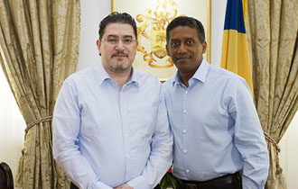 The Seychelles President receives High Commissioner for the Republic of Cyprus at State House