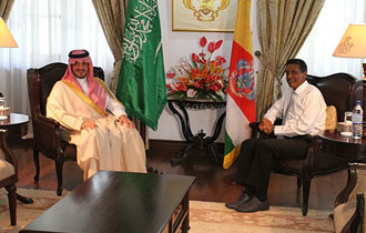 Seychelles President meets with Saudi Arabian Special Envoy